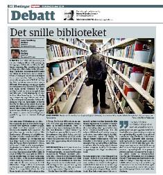 """Innlegget """"Det snille biblioteket"""" i DB 21.5.2009"""